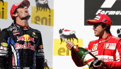 Webber - RedBull - Alonso - Ferrari