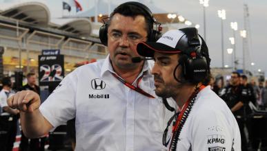 Fernando Alonso y Eric Boullier