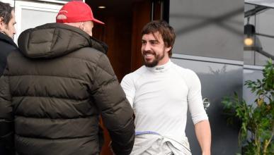 Fernando Alonso y Niki Lauda en Jerez