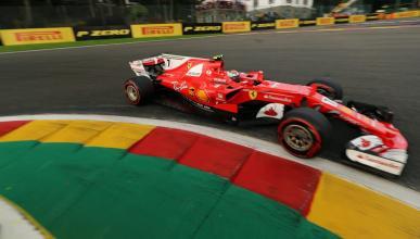 Kimi Raikkonen en Spa-Francorchamps