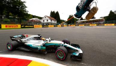 Lewis Hamilton, durante los Libres 2 de Bélgica