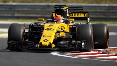 Robert Kubica, en su test con el Renault RS 17