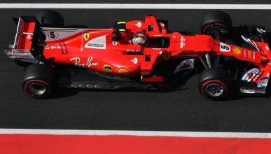 Sebastian Vettel, durante los test de Hungría