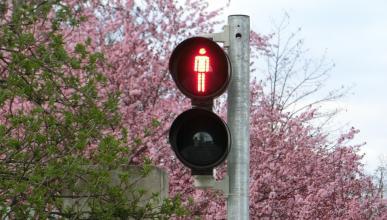 Semáforo rojo peatones