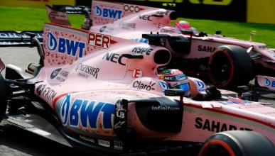Sergio Pérez y Esteban Ocon, pilotos de Force India