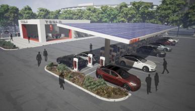 área de servicio Tesla