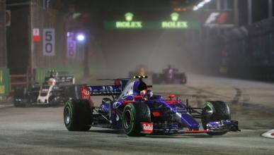 Carlos Sainz, en el GP de Singapur 2017