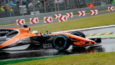 Fernando Alonso, durante la clasificación del GP italia
