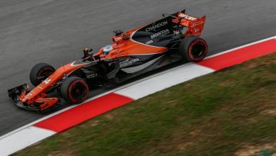 Fernando Alonso, en los Libres de Malasia
