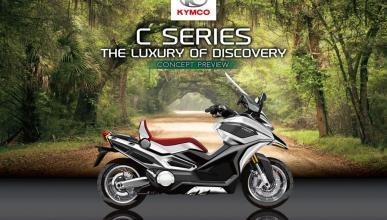 KYMCO C Series, el prototipo de KYMCO para su megascooter off-road