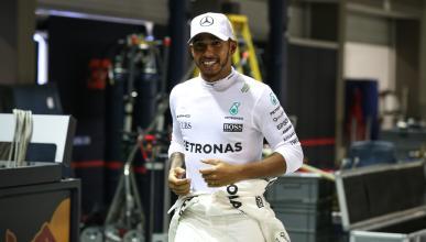 Lewis Hamilton, en el GP de SIngapur 2017
