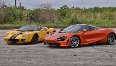 McLaren 720S vs Ford GT V8 biturbo