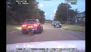 Persecución Audi RS6 policia choque accidente