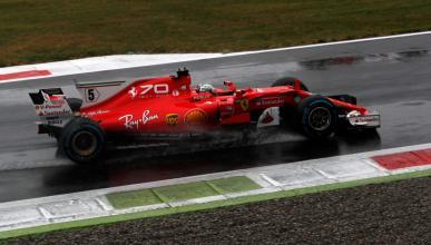 Sebastian Vettel, en el GP italia 2017