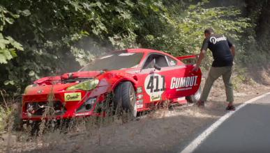 Accidente Toyota GT86 con motor Ferrari