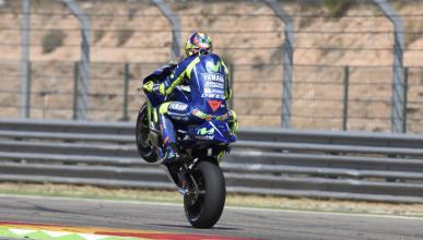 Valentino Rossi completa un heroico fin de semana en Aragón
