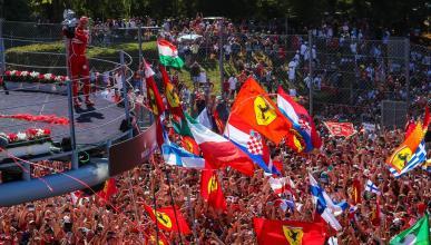 Vettel, en el podio del GP de Italia