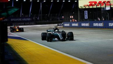 Victoria de Lewis Hamilton en el GP de Singapur