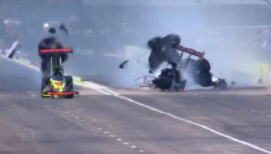 accidente dragster