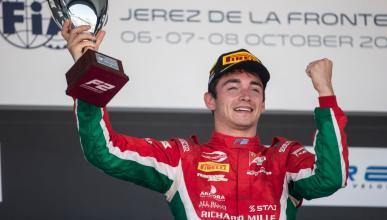 Charles Leclerc gana en Jerez
