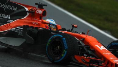 Fernando Alonso, en el GP Japón 2017