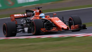 Fernando Alonso, en los Libres 3 del GP Japón 2017