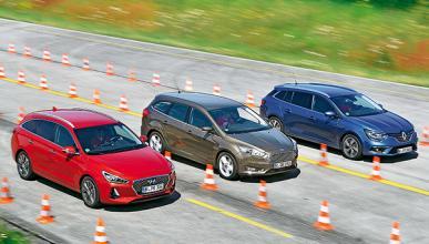 Hyundai i30 CW vs Ford Focus Sportbreak y Renault Mégane Sport Tourer.