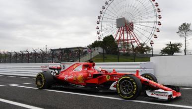 Sebastian Vettel en los Libres 1 del GP Japón 2017