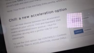 actualización Tesla Model S 100D