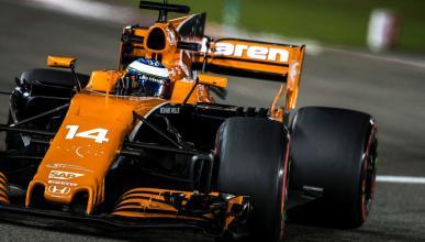 Alonso, durante la clasificación de Abu Dhabi