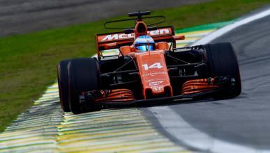 Alonso, durante los Libres 3 de Brasil