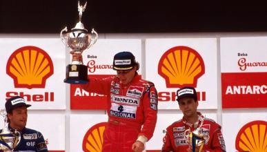 Ayrton Senna gana el GP Brasil 1991