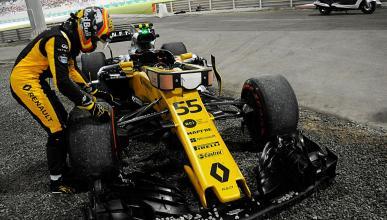 Carlos Sainz problema Renault Abu Dhabi