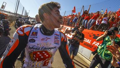 Celebración título Marc Márquez MotoGP 2017