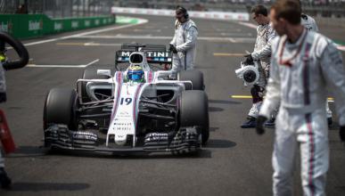 Felipe Massa se dirige a la parrilla del GP de México