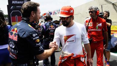 Fernando Alonso y Christian Horner