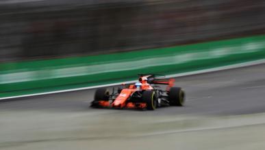 Fernando Alonso en la clasificación del GP Brasil 2017