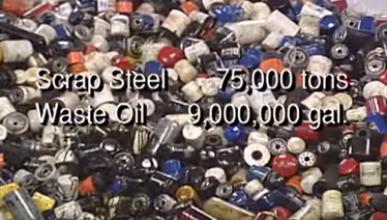 Filtros de aceite usados
