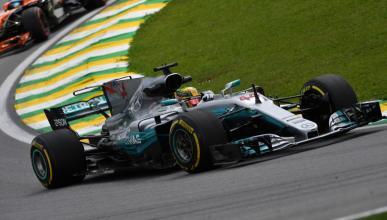 Lewis Hamilton, en los Libres 2 de Brasil