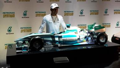 Lewis Hamilton modelo a escala