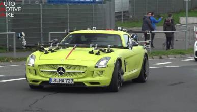 mercedes sls amg electric drive test nurburgring