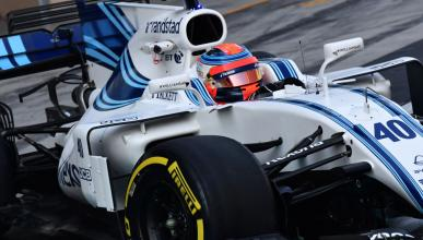 Robert Kubica con Williams en Abu dhabi