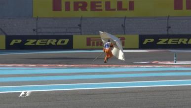 Sombrilla circuito F1