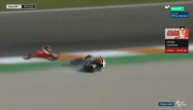 VÍDEO: Caída de Jorge Lorenzo en la Q2 de Valencia
