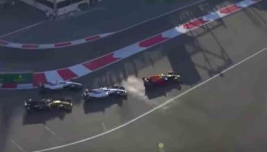 Adelantamiento Ricciardo Azerbaiyán