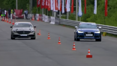 Audi RS6 contra Mercedes CLS 63 AMG