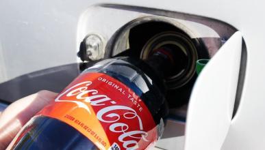 Coca-Cola en el depósito