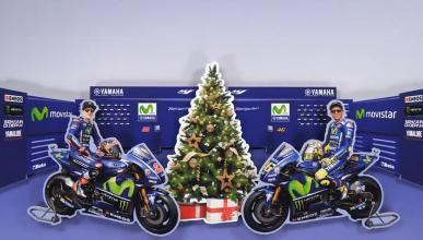 Felicitación navideña de Valentino Rossi y Maverick Viñales