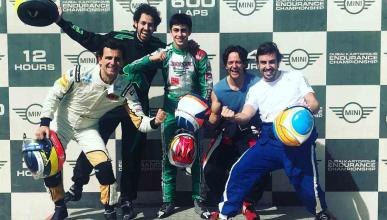 Fernando Alonso en las 24 Horas de Karting
