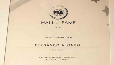 Fernando Alonso, en el Salón de la Fama de la FIA